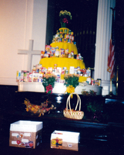 Food Pantry Ministry - canned food tower